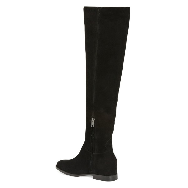 Women's  Black Commuting Knee High Boots Comfortable Shoes image 2