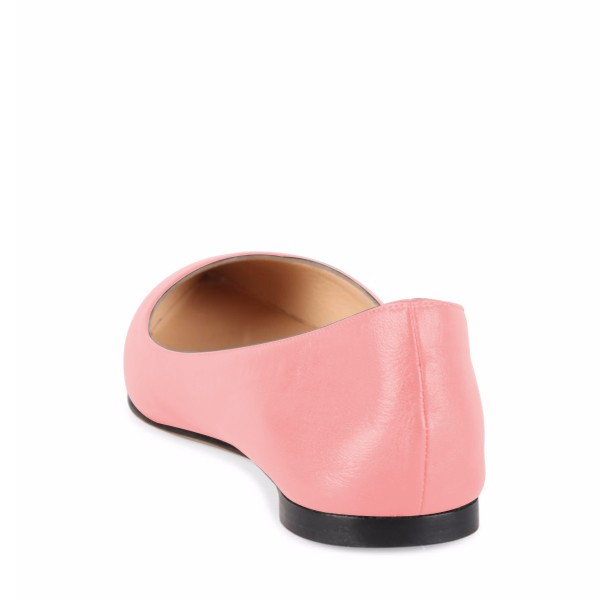Women's Peach Pink Pointed Toe  Comfortable Flats image 3