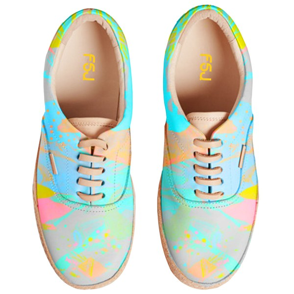 Women's Bright Colors Lace Up Sneakers Comfortable Flats  image 2