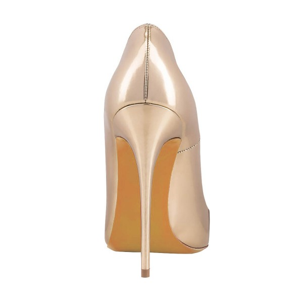 Women's Nude 4 Inch Heels Pointy Toe Pumps Stiletto Heels Shoes image 3