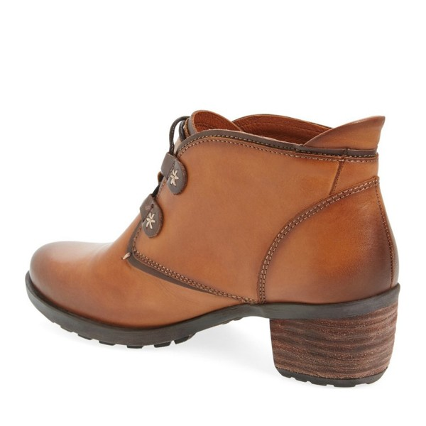 Tan Casual Boots Lace up Vintage Shoes image 2