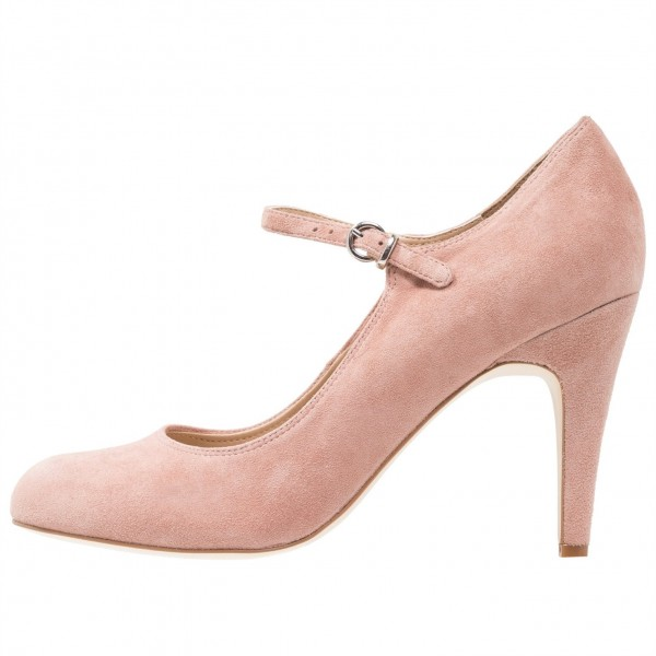3 inch Heels Pink Mary Jane Shoes Round Toe Pumps image 2