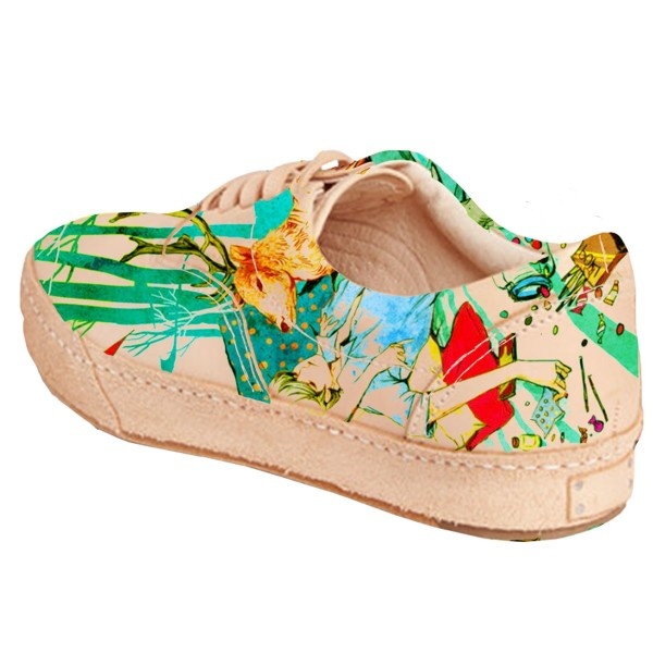 Women's Colorful Printed Sneakers Lace-Up Comfortable Flats  image 2
