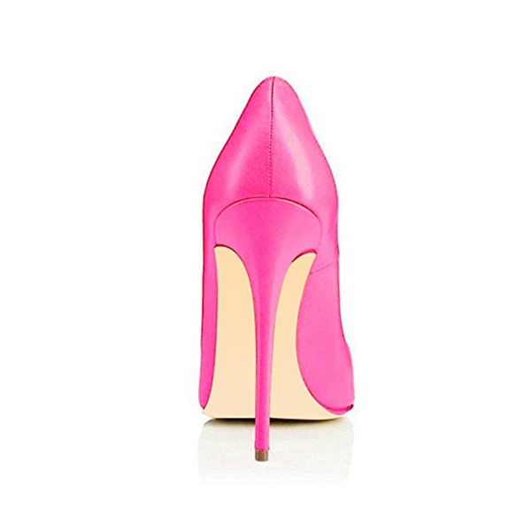 On Sale Fuchsia Office Heels Pointy Toe Stiletto Heel Dressy Pumps image 4