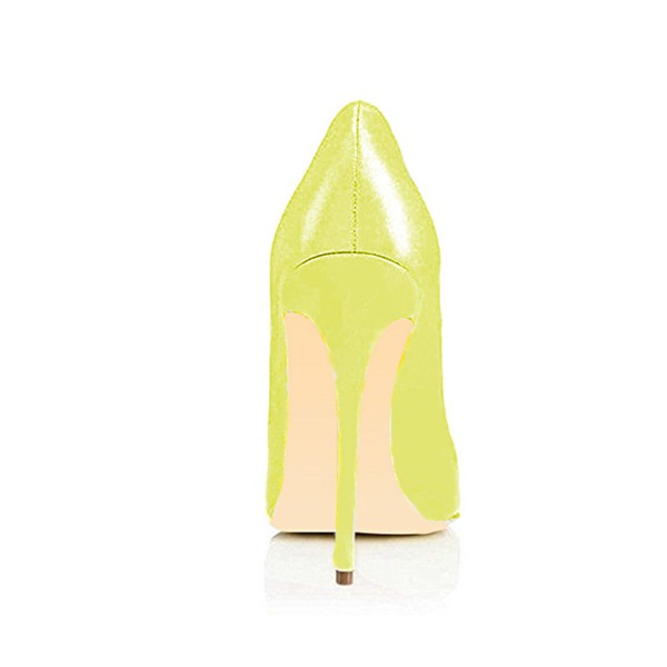 FSJ Yellow Office Heels Pointy Toe Stiletto Heel Office Pumps  image 3