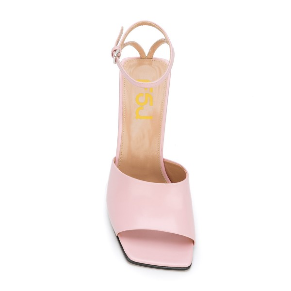 Women's Pink Heels Open Toe Ankle Strap Sandals  image 3