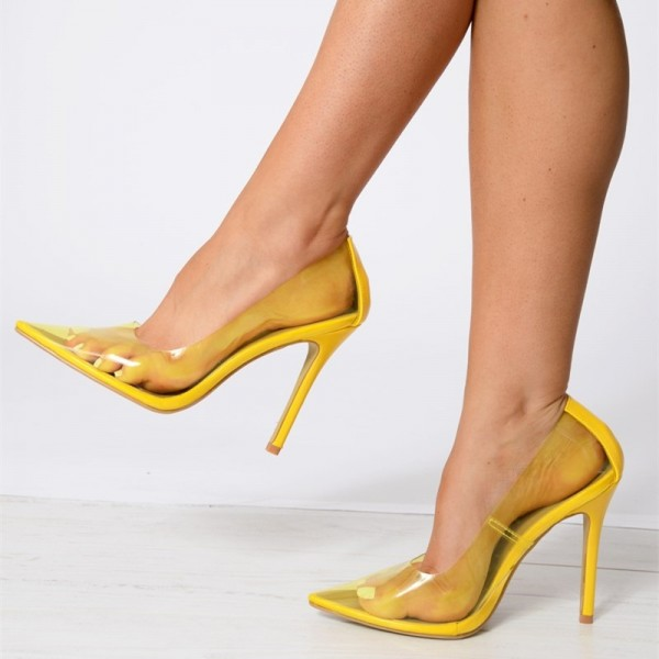 Yellow Heels Pumps