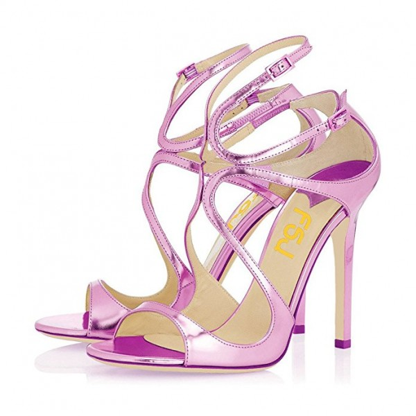 Women's Orchid Pencil Heel Strappy Sandals Formal Shoes image 1