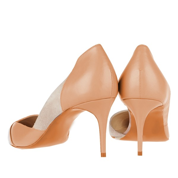 Blush Kitten Heels Pointy Toe Commuting Dosay Pumps for Female image 2