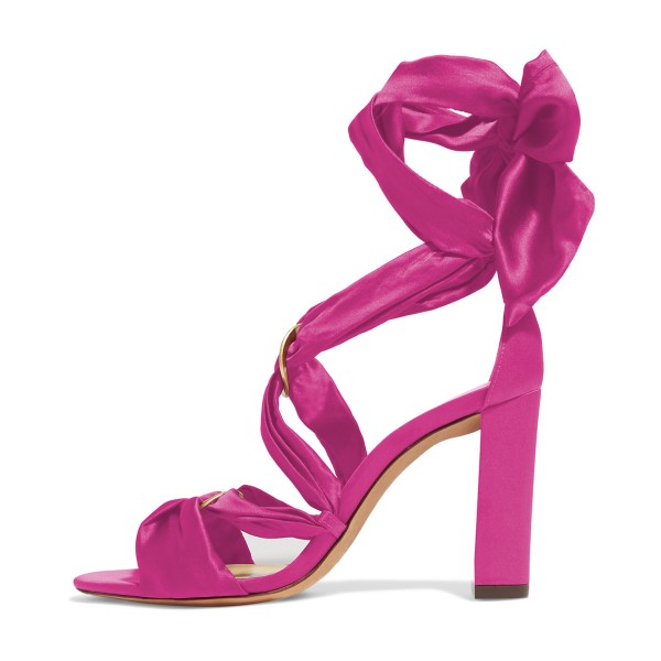 Women's Plum Bow Chunky Heel Strappy Sandals image 4