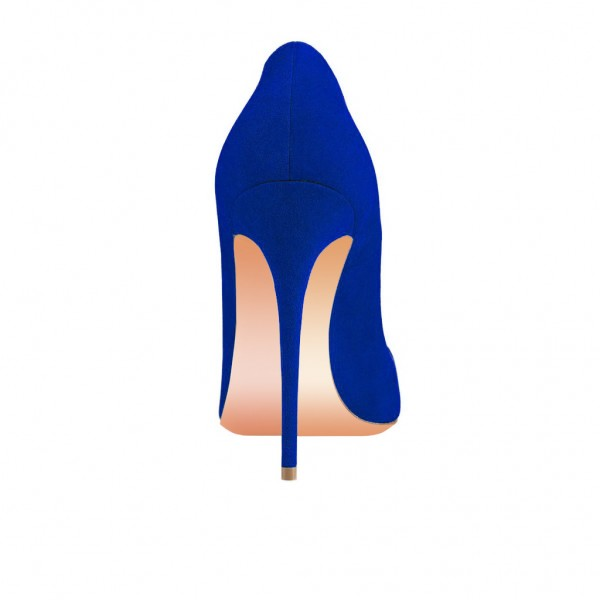 Royal Blue Office High Heel Shoes Stiletto Heels Pumps image 4