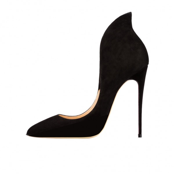 Women's Black Commuting Stiletto Heels Pumps Formal Shoes image 5