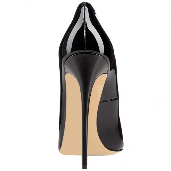 Black Dress Shoes Formal 5 Inch Stiletto Heel Pumps image 3