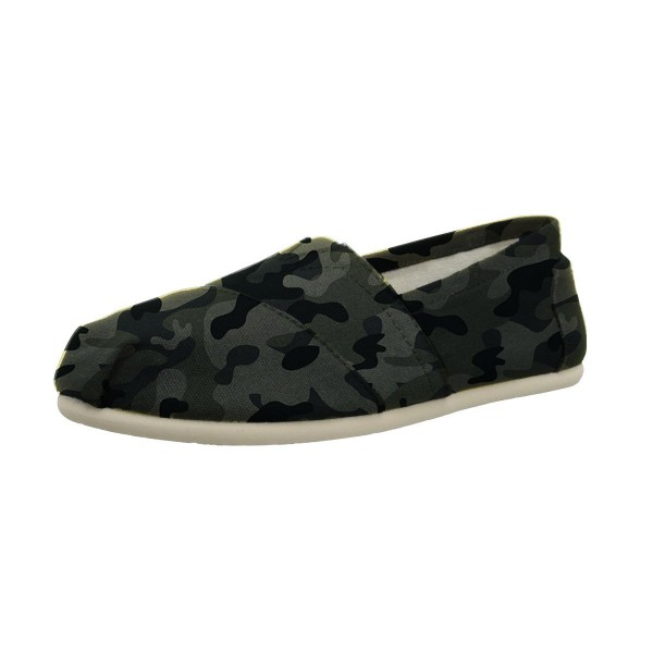 Camouflage Comfortable Flats Slip-on Canvas for Female image 1