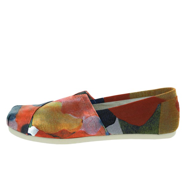 Women's Salmon Petals Printed Slip-On Comfortable Flats image 3