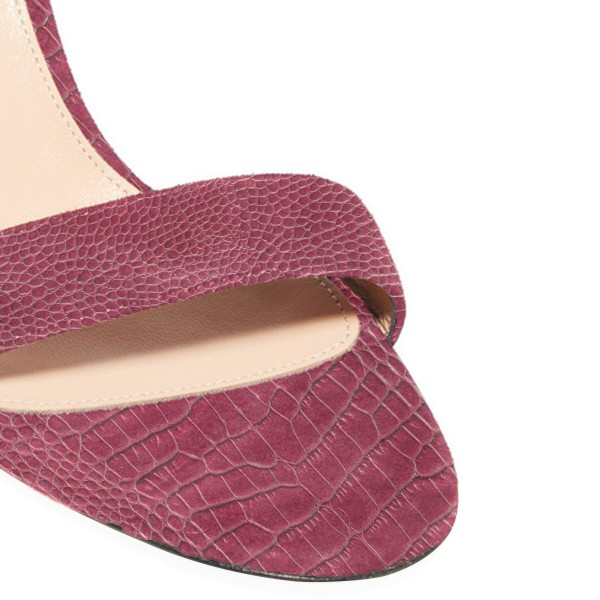 Women's Maroon Cobra Ankle Strap Sandals image 2