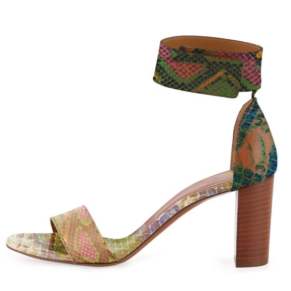 Women's Multi Color Cobra Ankle Strap Sandals image 4