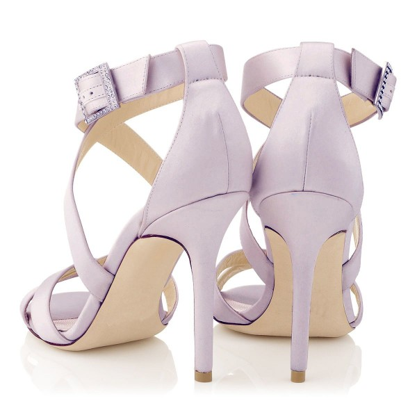 Orchid 3 Inch Heels Cross-over Strap Open Toe Stilettos Sandals image 2
