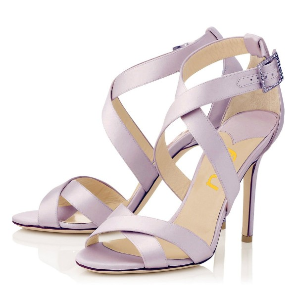 Orchid 3 Inch Heels Cross-over Strap Open Toe Stilettos Sandals image 1
