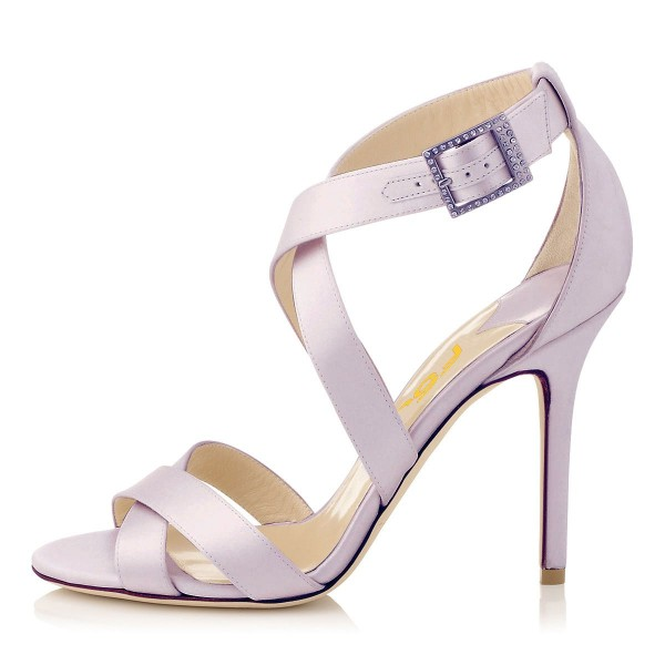 Orchid 3 Inch Heels Cross-over Strap Open Toe Stilettos Sandals image 4