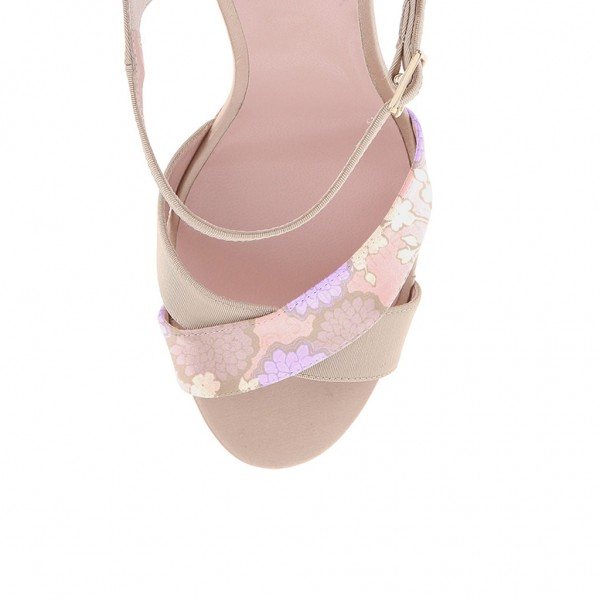 Blush Heels Floral Open Toe Stiletto Heels Sandals image 3