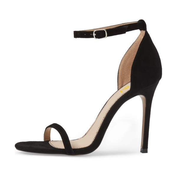 On Sale Black Commuting Stiletto Heels Ankle Strap Sandals image 4