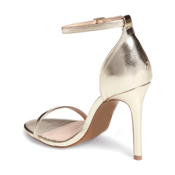 FSJ Golden Ankle Strap Sandals Open Toe Office Stiletto Heels  image 3