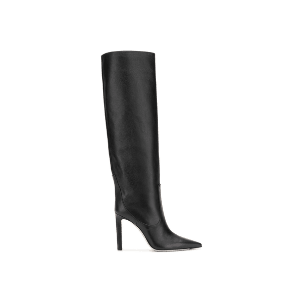 Custom Made Black Pointy Toe Stiletto Heel Boots image 2