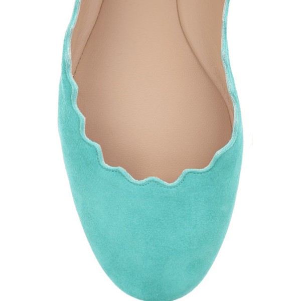 Women's Adorable Cyan Almond Toe Comfortable Flats  image 2