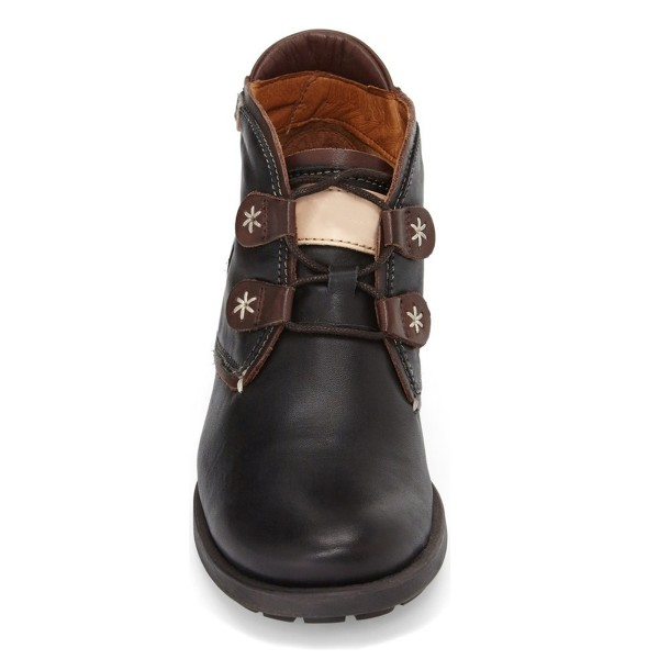 Dark Brown Casual Boots Lace up Vintage Shoes image 2
