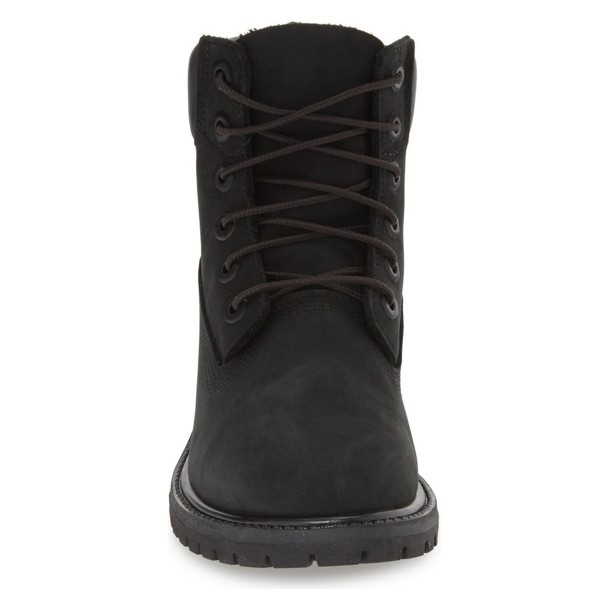 Black Casual Boots Lace up Ankle Boots for Women image 3