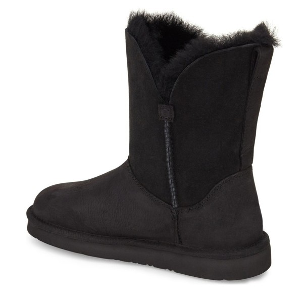 Black Winter Boots Round Toe Flat Comfy Mid Calf Snow Boots image 3