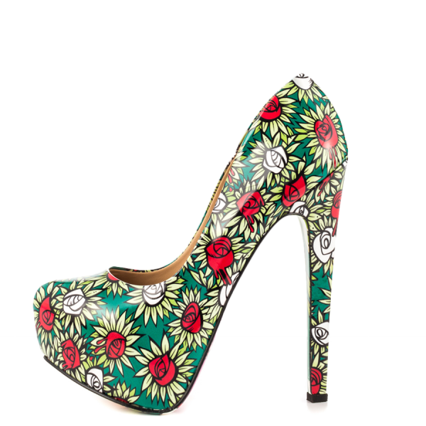 Alice in Wonderland Floral Heels Platform Pumps for Halloween image 5