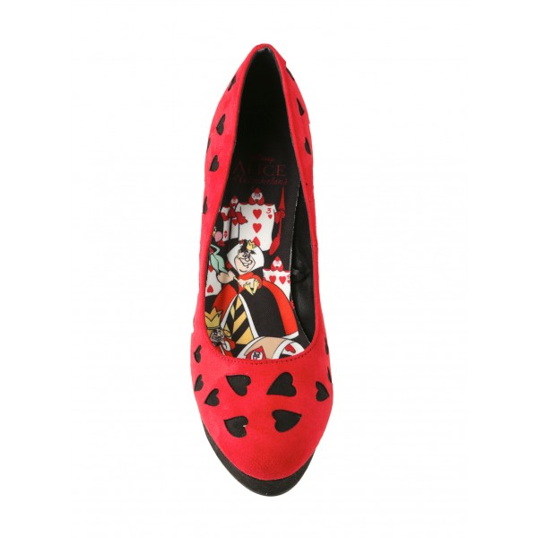Alice In Wonderland Red Platform Stiletto Heels Pumps for Halloween image 2