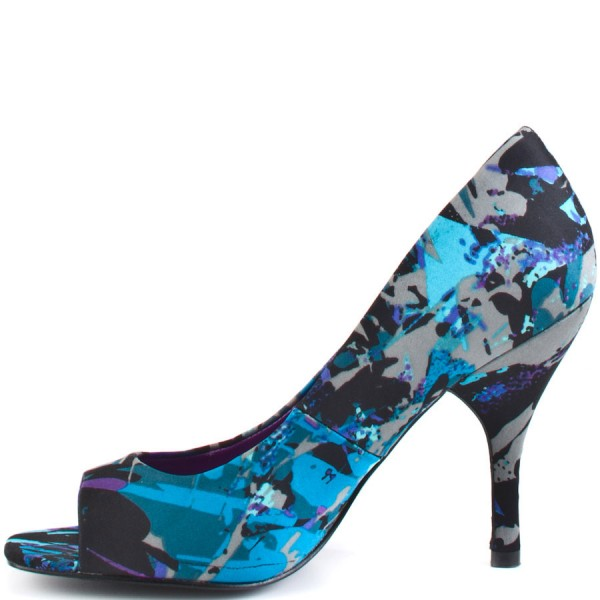 Ariel Blue Peep Toe Heels Stiletto Heels Pumps for Halloween image 2