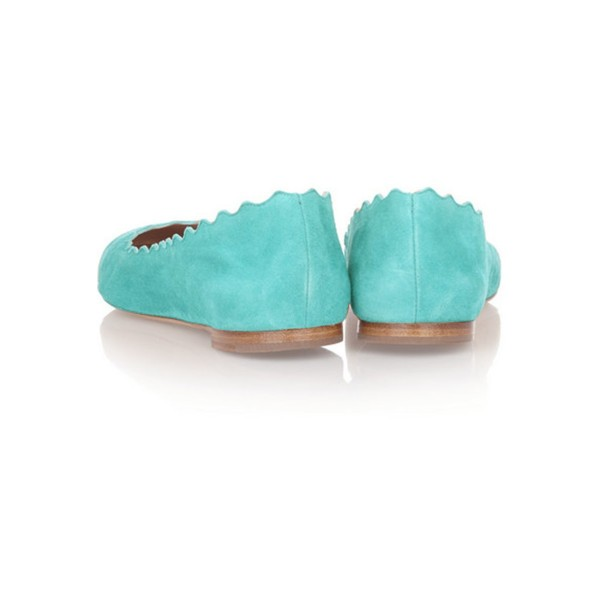 Women's Adorable Cyan Almond Toe Comfortable Flats  image 4