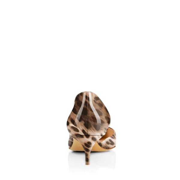 Animal Print Kitten Heels Pointy Toe D'orsay Pumps image 2