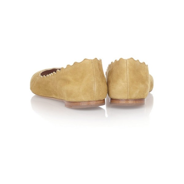 On Sale Mustard Suede School Shoes Round Toe Comfortable Flats image 4