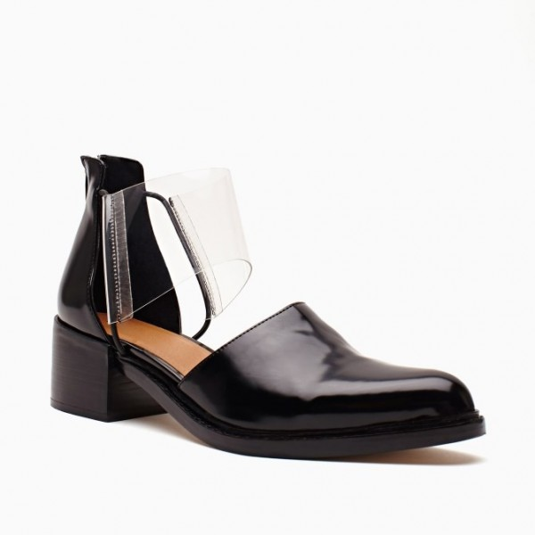 Black and Clear Low Heel Casual Shoes for Women image 3