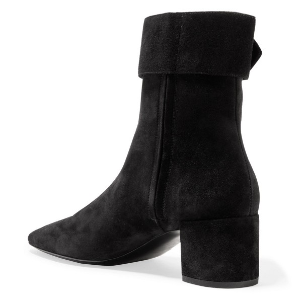 Black Buckle Chunky Heel Boots Ankle Boots image 4