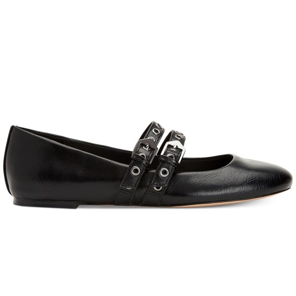 Black Buckles Mary Jane Shoes Round Toe Flats School Shoes image 2