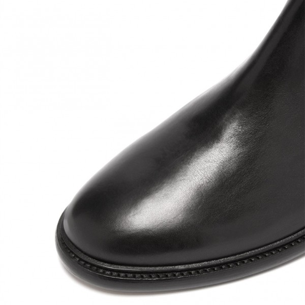 Black Chelsea Boots Flat Ankle Boots image 3