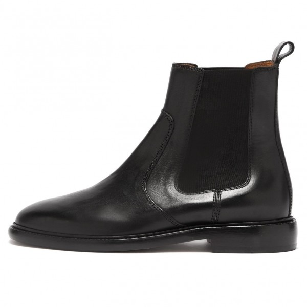 Black Chelsea Boots Flat Ankle Boots image 2