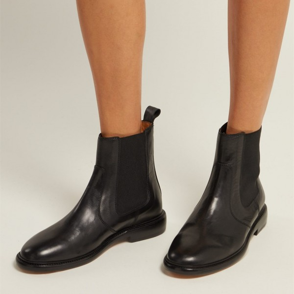 Black Ankle Boots Flat