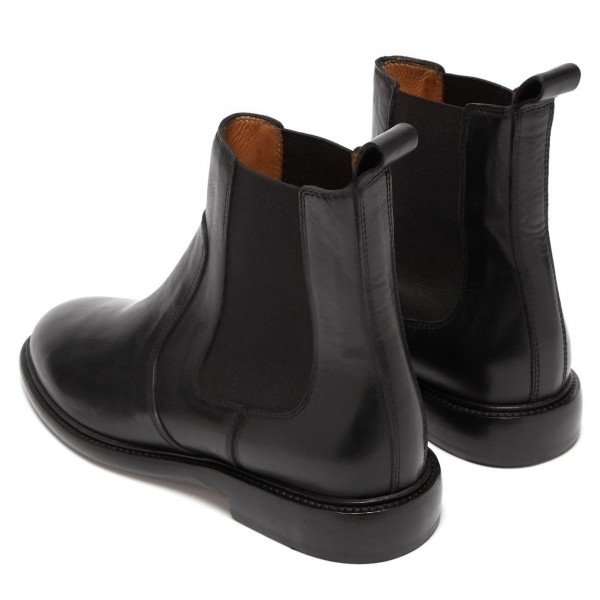Black Chelsea Boots Flat Ankle Boots image 5