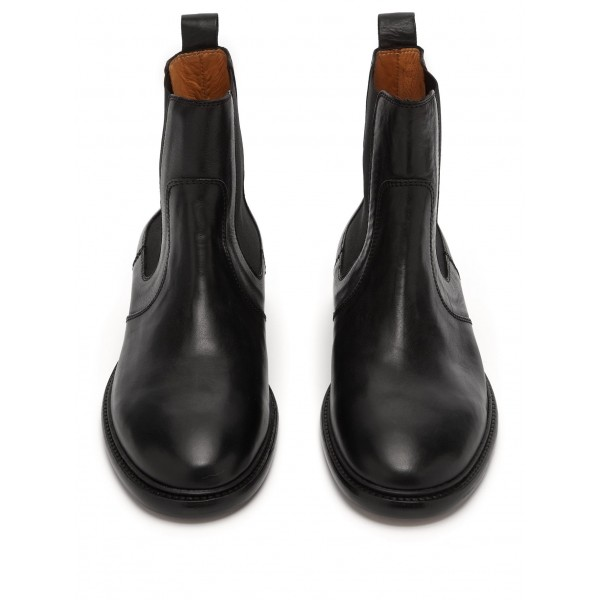 Black Chelsea Boots Flat Ankle Boots image 4