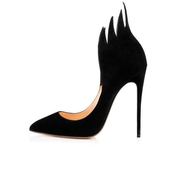 Women's Pointed Toe Leila Black Flame Stiletto Heel Pumps Dress shoes image 3