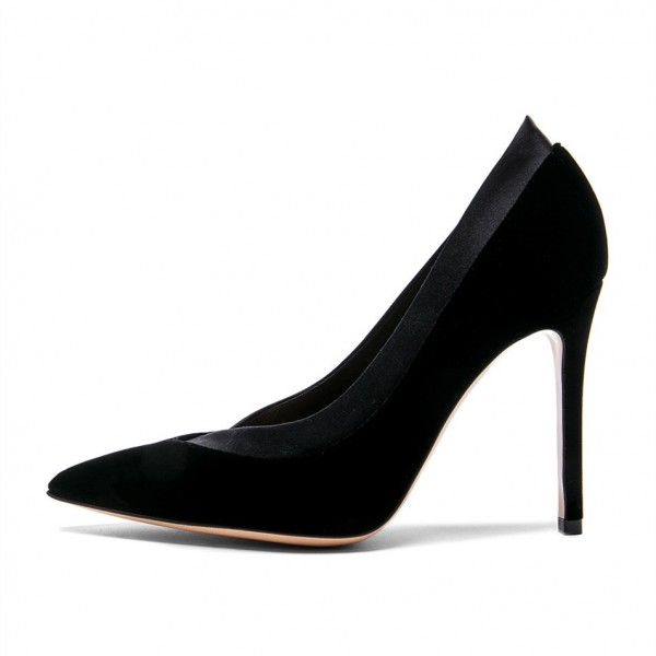 Black Joint Office Heels Pumps image 3