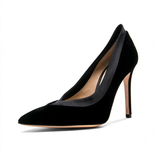 Black Joint Office Heels Pumps image 1