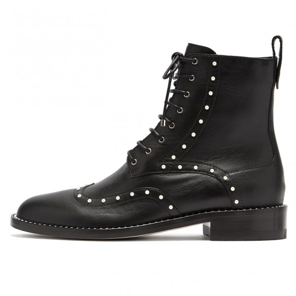 Black Pearl Lace Up Boots image 1